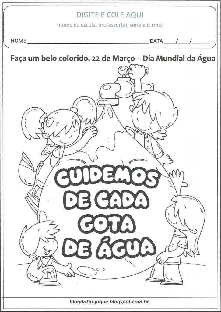 Conhecido Dia da Água para Colorir - Atividades para Educação Infantil IX65