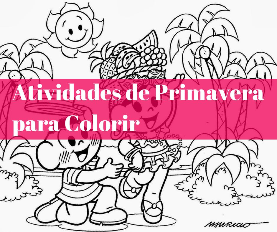 colorir primavera   Atividades para Colorir sobre a Primavera   23 de Setembro   datas comemorativas    Atividades para Educacao Infantil